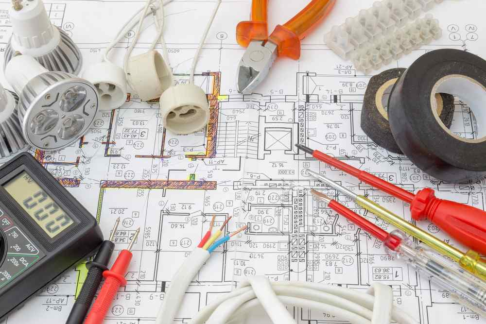 modern homes wiring floor plan